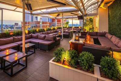 NYC\'s Highest Rooftop Lounge - Sky Room New York City